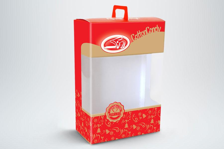 جعبه شکلات تلق دار